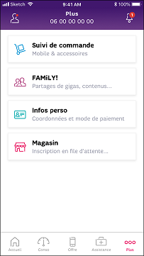 Je me connecte à mon application SFR & Moi