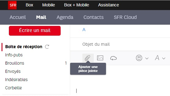 sfr mail messagerie mes mails