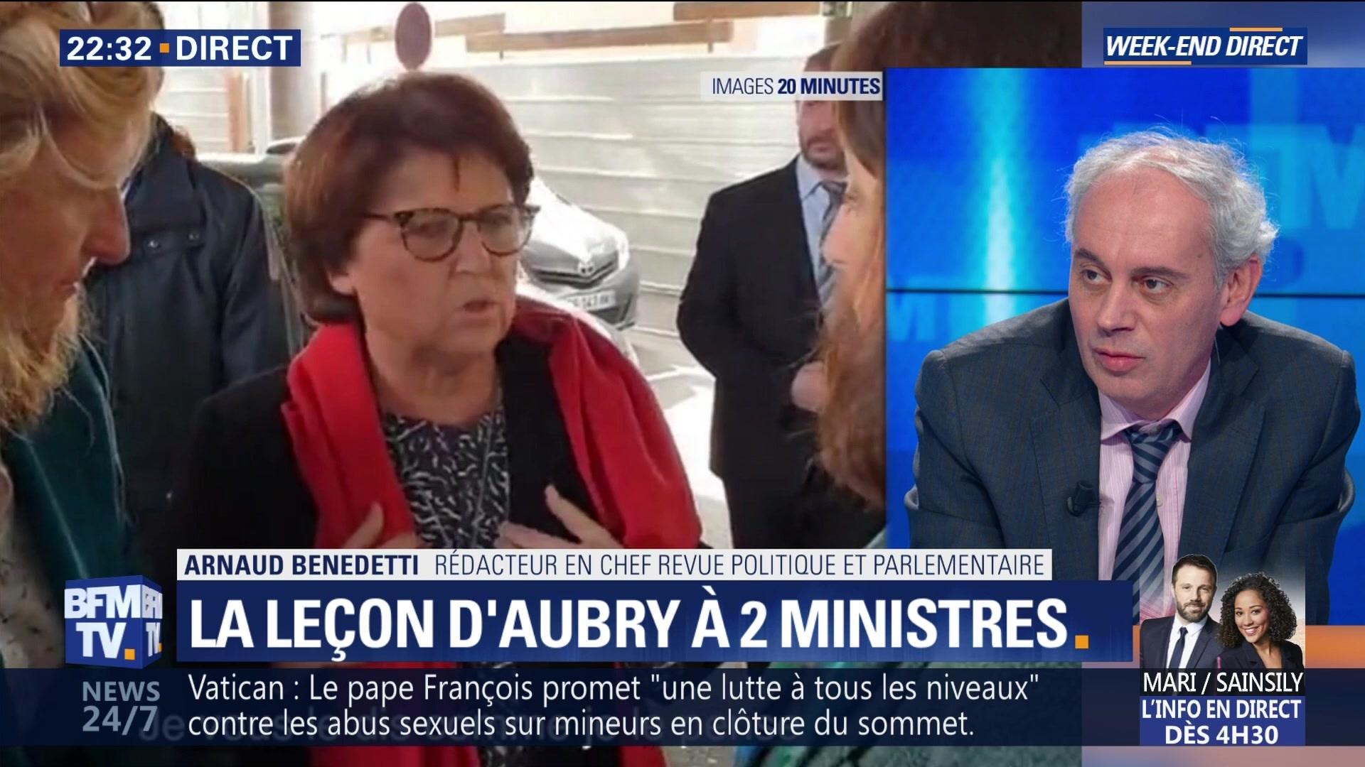La colère de Martine Aubry face à deux ministres