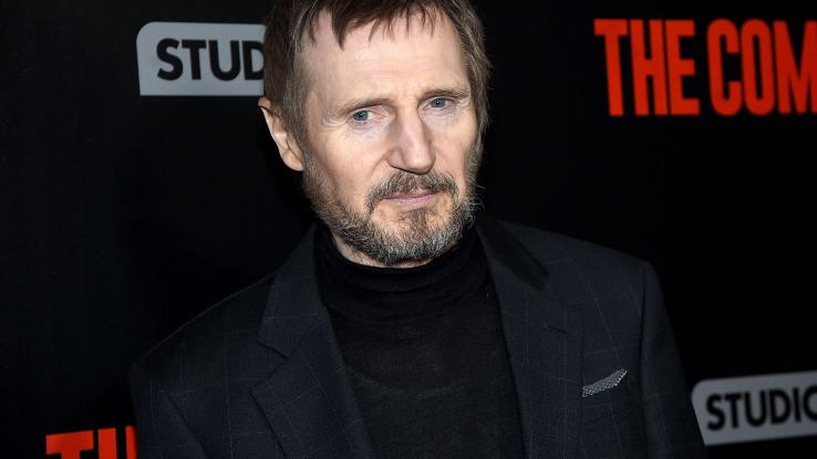 Liam Neeson à New York le 8 janvier 2018