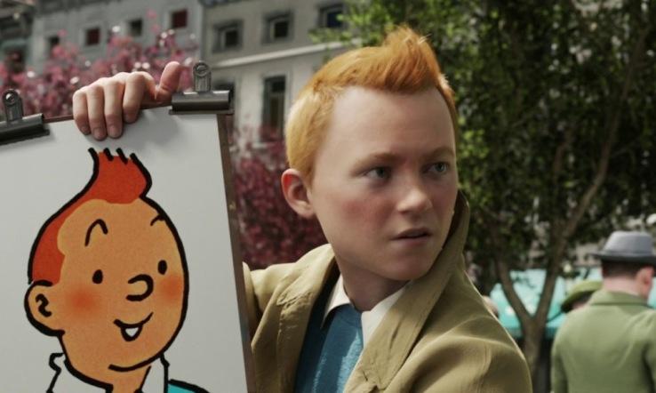 Tintin dans le film de Steven Spielberg