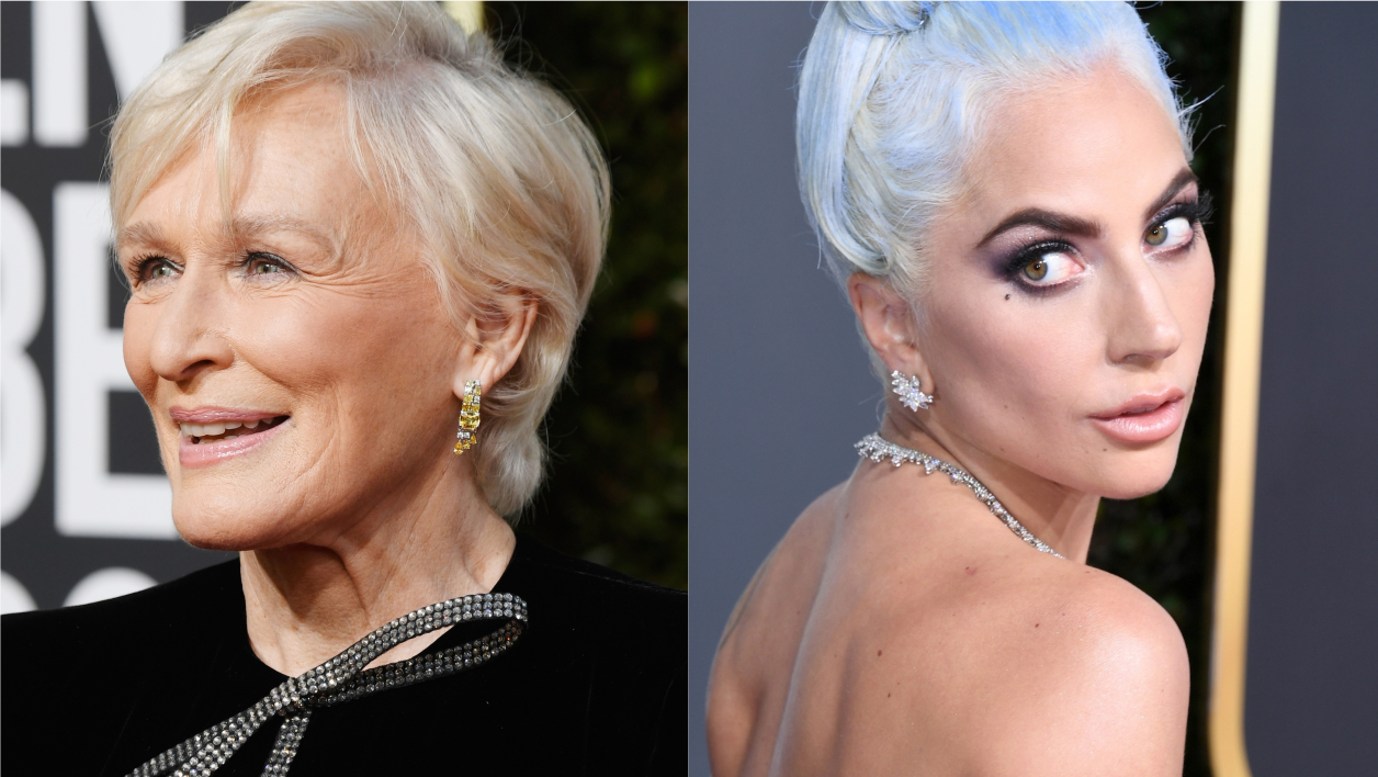 Glenn Close et Lady Gaga lors des Golden Globes 2019