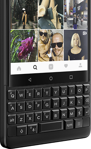 le clavier du Blackberry Key 2