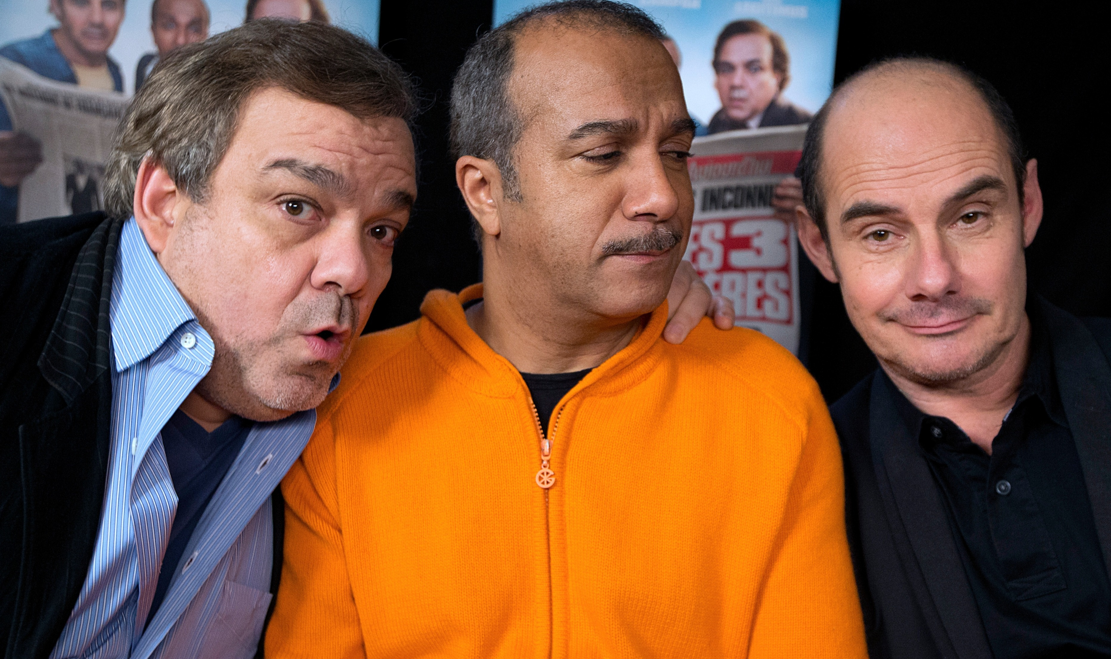 Didier Bourdon, Pascal Legitimus et Bernard Campan en 2014 pour la promotion de