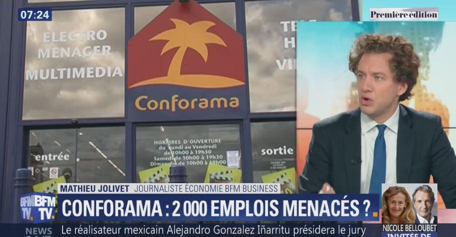 Conforama : jusqu'à 2000 emplois menacés en France