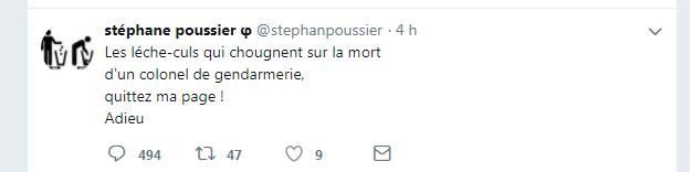 EN IMAGES - Mort d'Arnaud Beltrame: un ancien candidat de la France Insoumise fait scandale avec ses tweets
