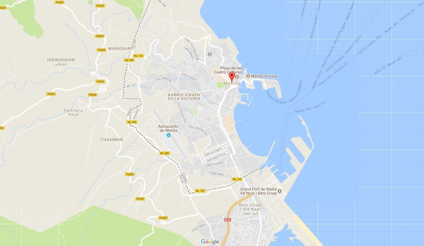 Un Marocain attaque au couteau un policier à Melilla
