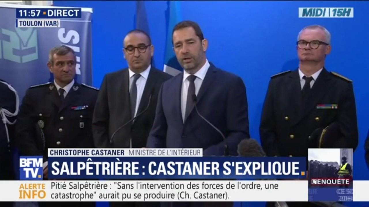 Christophe Castaner fait son mea culpa après l'incident à la Pitié-Salpêtrière