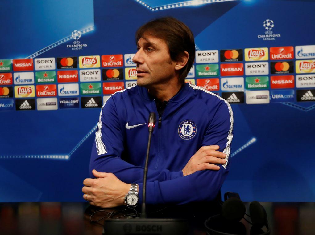Antonio Conte en conférence de presse avant Barcelone-Chelsea