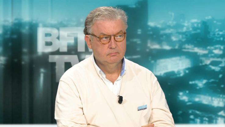 Dominique Besnehard sur le plateau de BFMTV