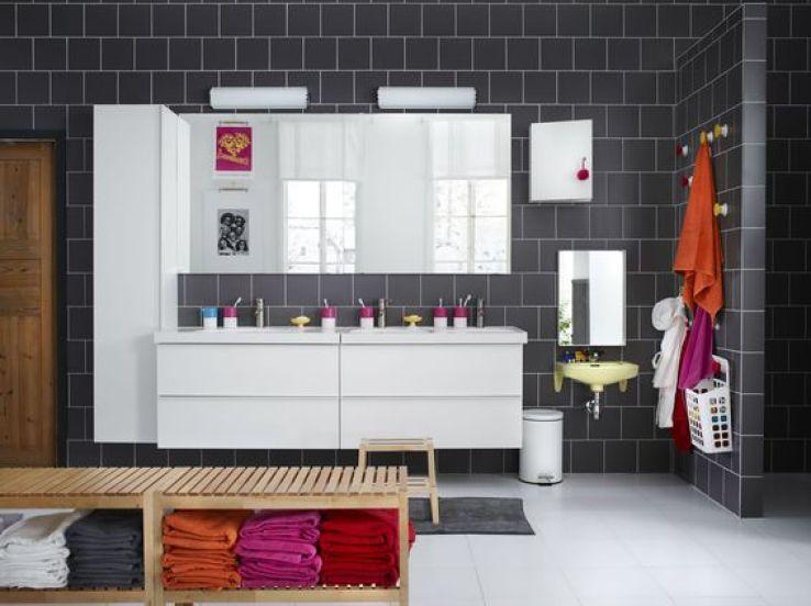 elegant meuble lavabo tiroirs en bouleau massif plastique abs dimensions x x cm euros godmorgon. Black Bedroom Furniture Sets. Home Design Ideas