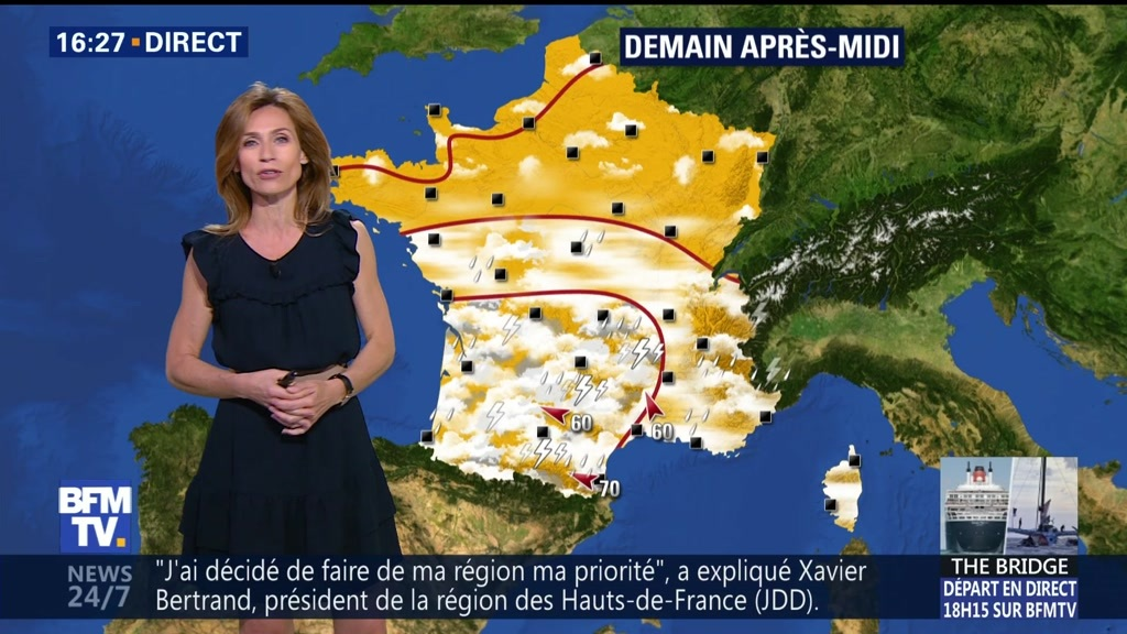 17 départements en vigilance orange — Orages
