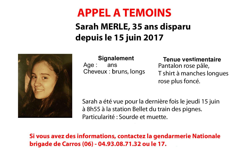 Disparition inquiétante d'une femme de 35 ans — Alpes-Maritimes