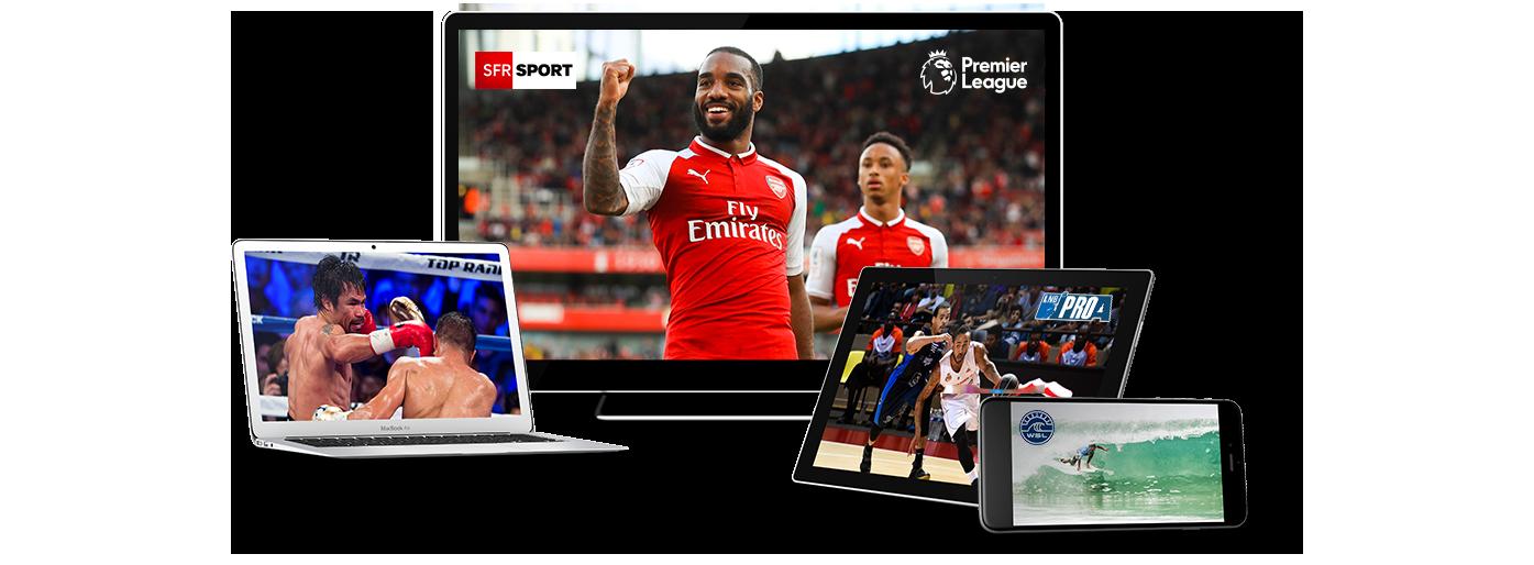 SFR Sport sur TV, ordinateur, tablette et smartphone