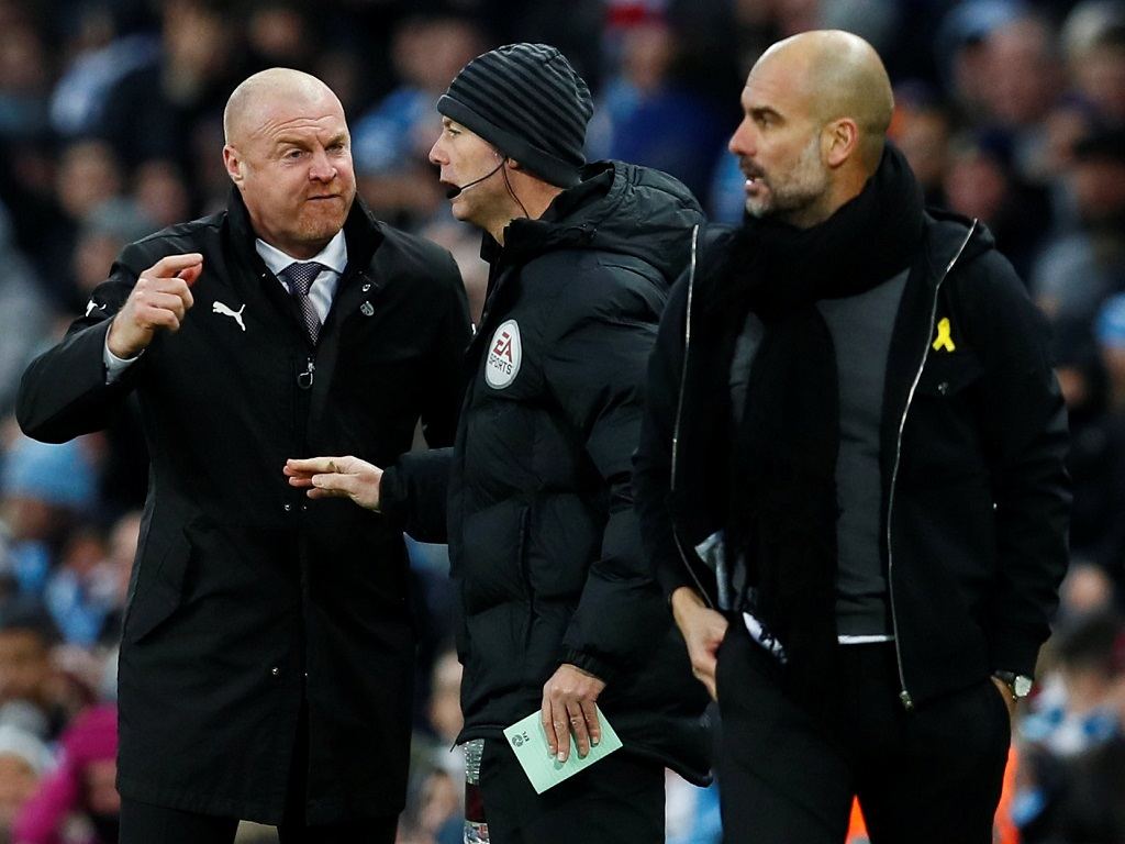 Sean Dyche et Pep Guardiola