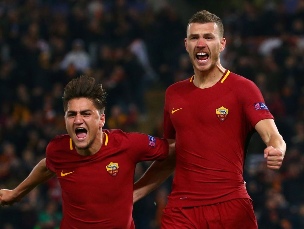 Edin Dzeko a envoyé la Roma en quart