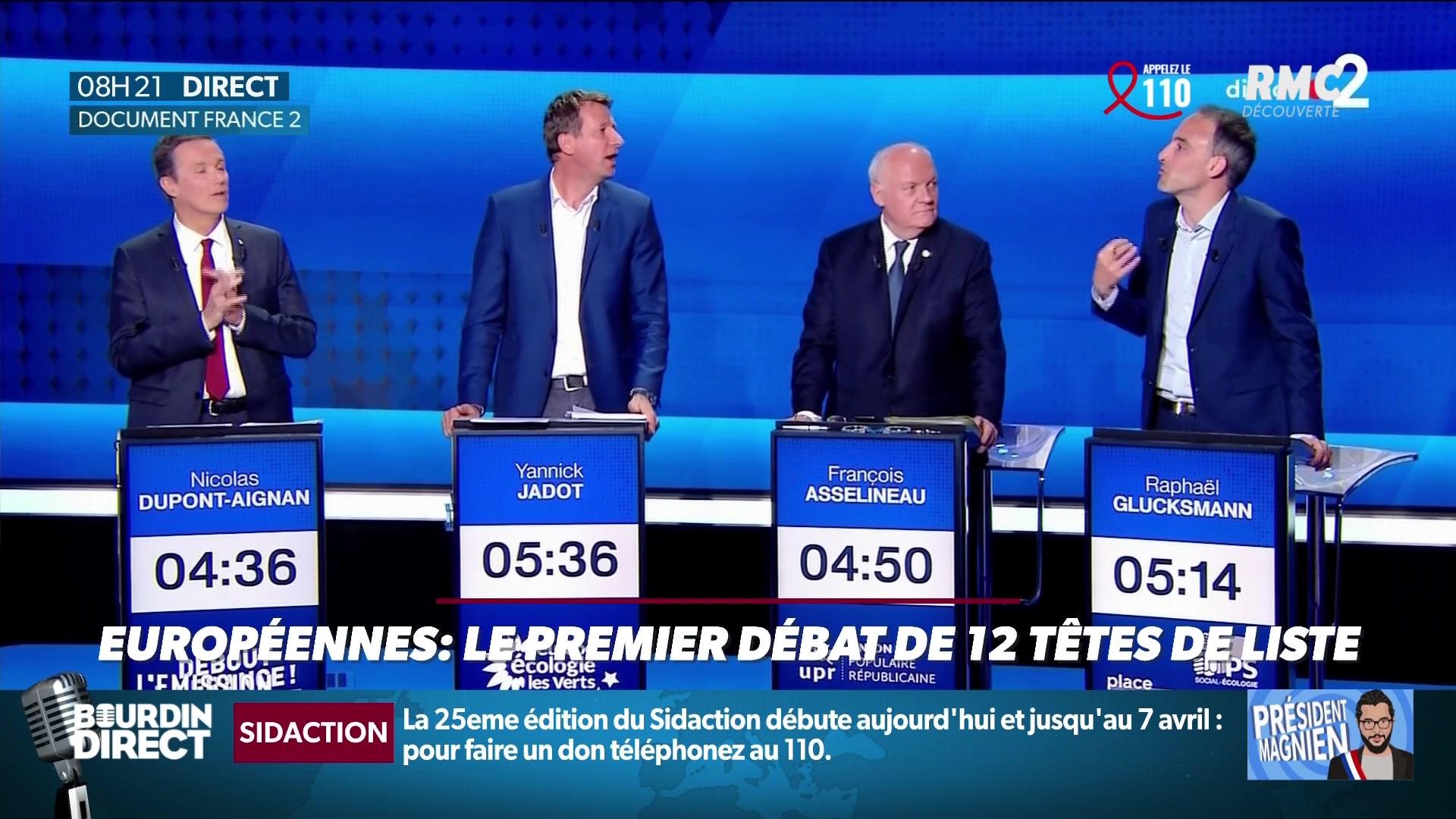 Européennes : Ce qu'il faut retenir du premier débat des têtes de liste