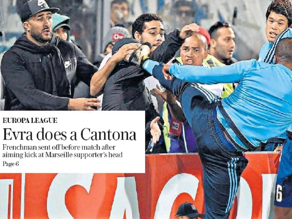 La Une du cahier Sports du Daily Telegraph