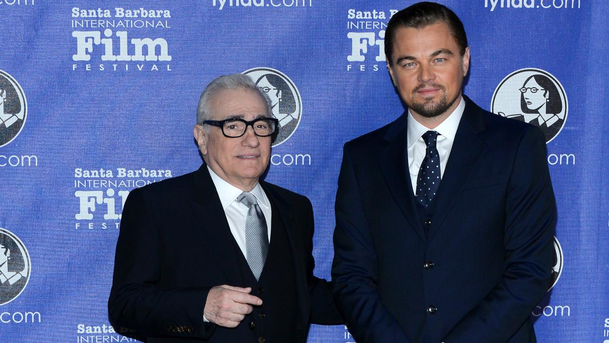 Martin Scorsese et Leonardo DiCaprio en 2014