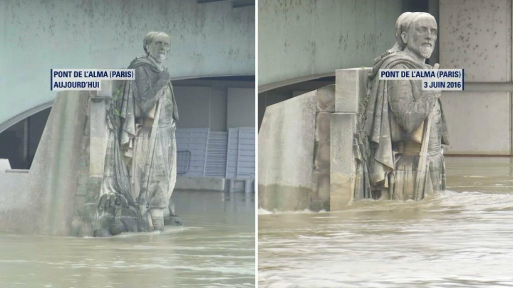 Le niveau de la Seine dépasse 4,40 mètres — Paris