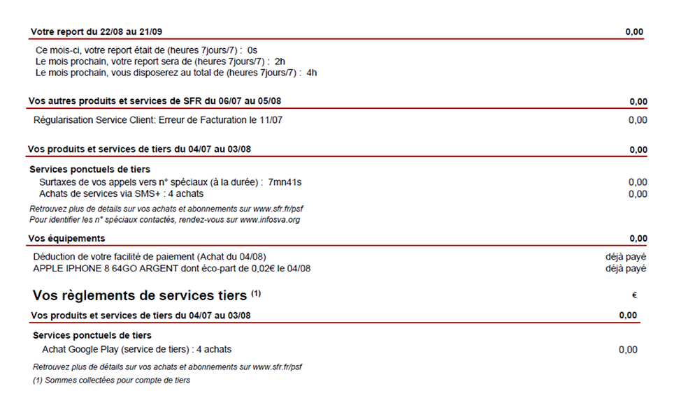 Guide Facture Mobile Sfr