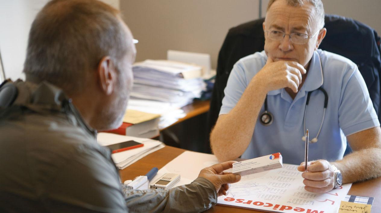 Consultation d'un patient chez le médecin (illustration)