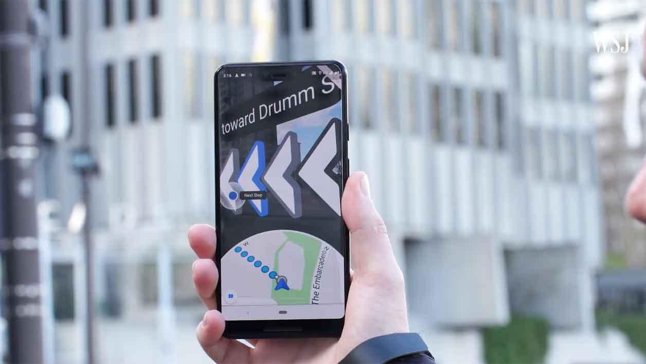 Google Maps en réalité augmentée.