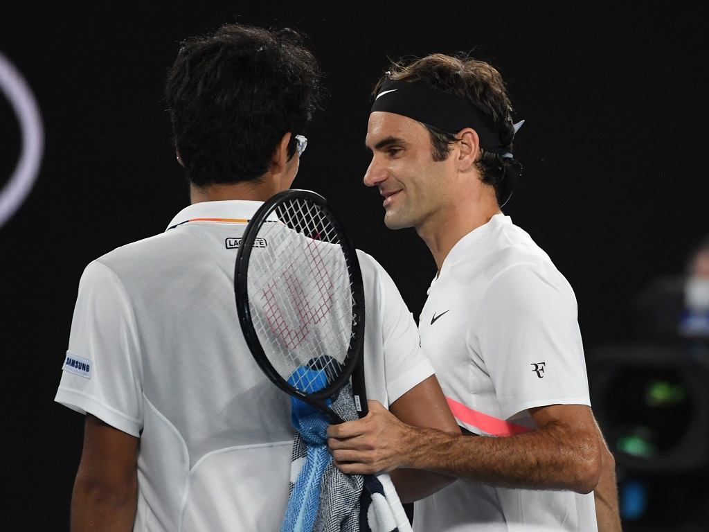 Roger Federer et Chung Hyeon