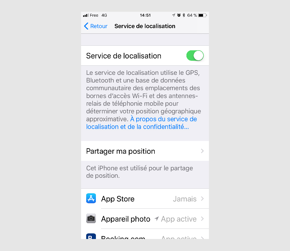 localiser iphone sfr