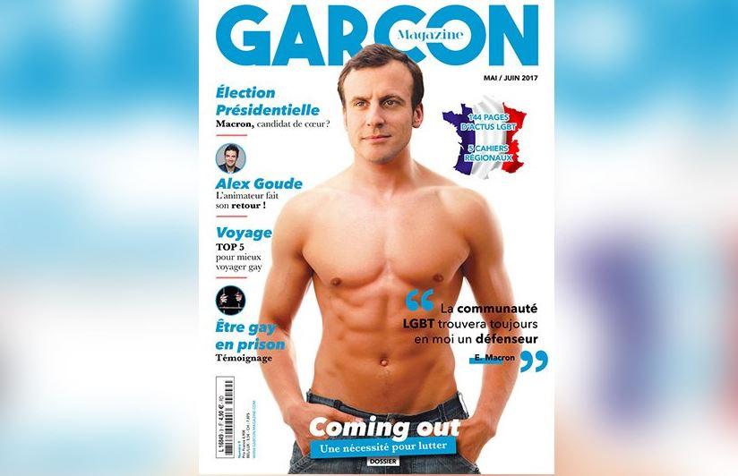 Quand Emmanuel Macron se retrouve torse nu en couverture d'un magazine gay