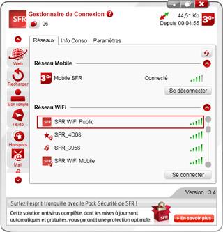 gestionnaire de connexion sfr 3.5