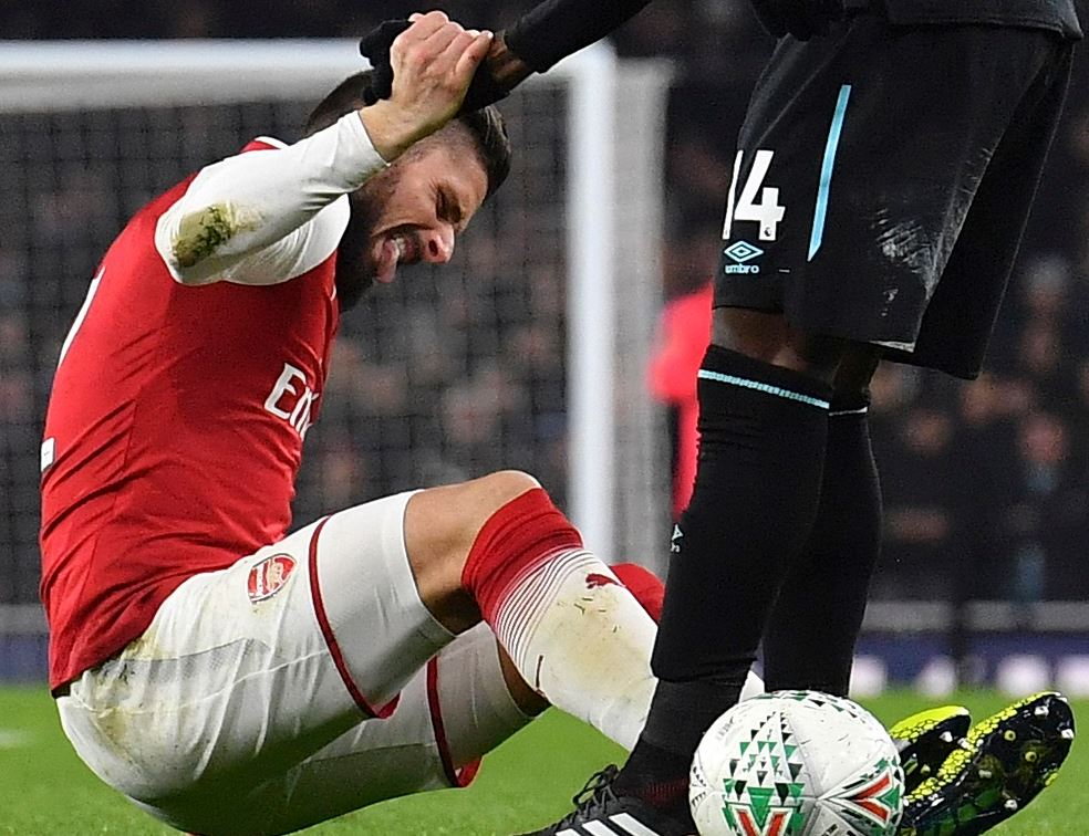 Premier League - Arsenal : Olivier Giroud, six semaines sur le carreau ?
