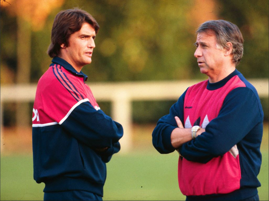 Henri Michel et son mentor, Michel Hidalgo