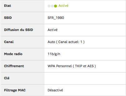 Je contrôle que le SSID est diffusé