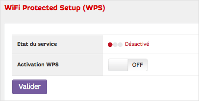 Je désactive WPS