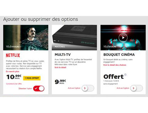 J'active l'option  Netflix