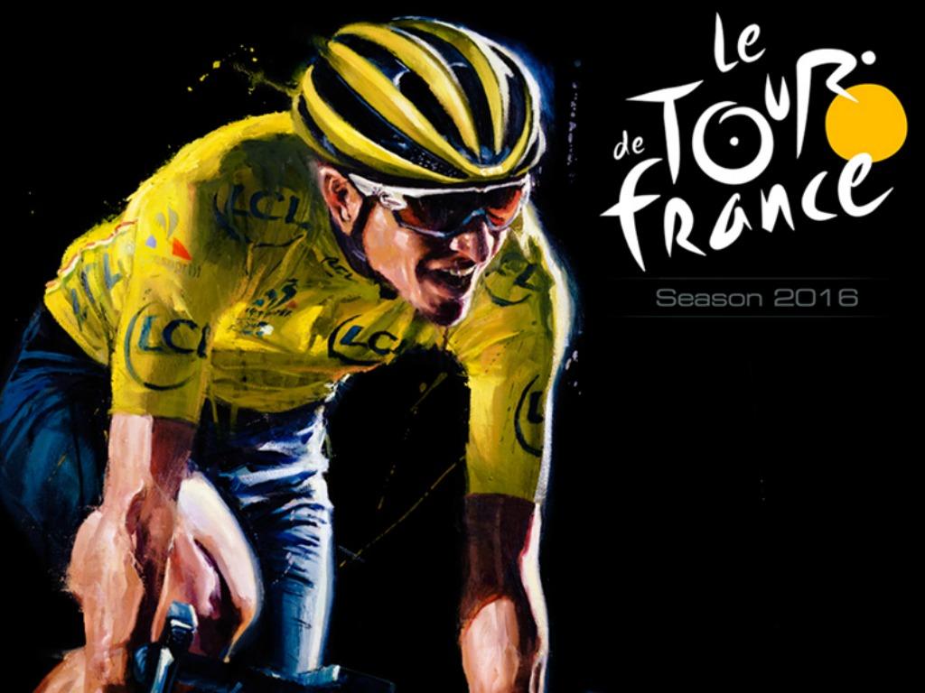 La couverture du jeu officiel du Tour de France 2016