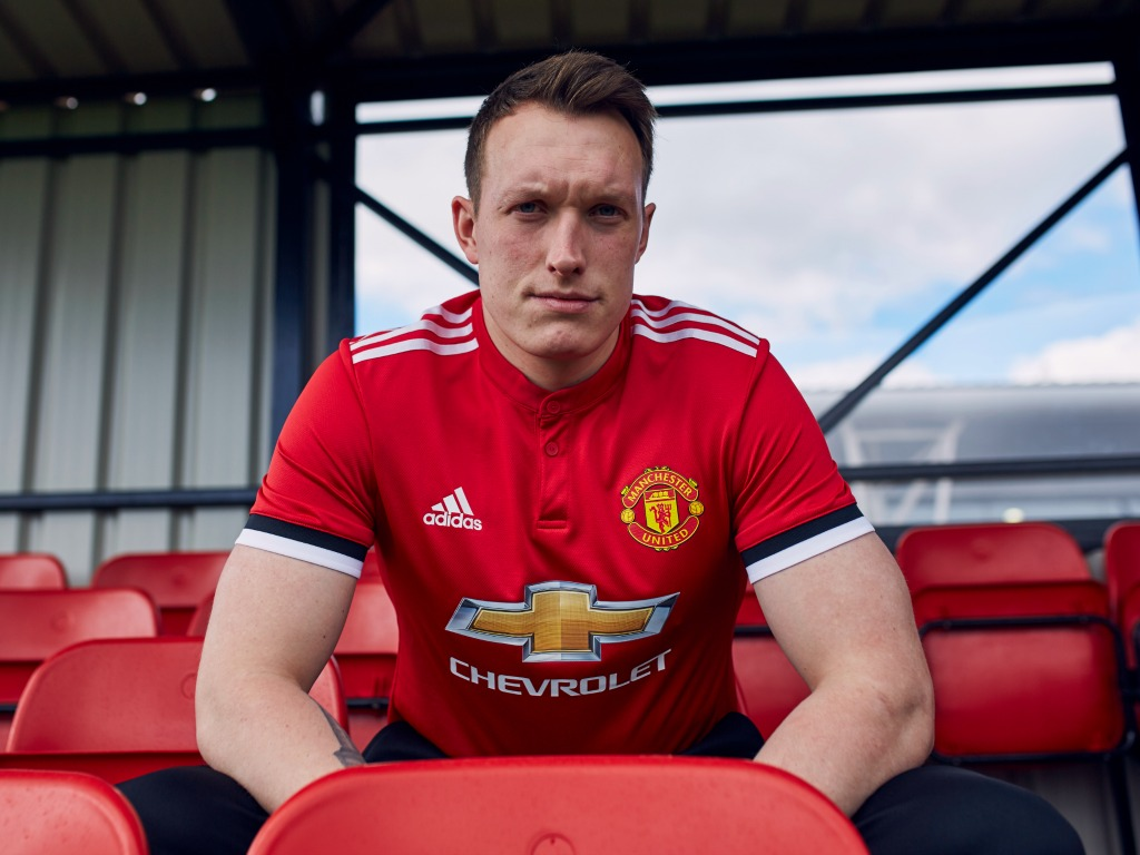 Maillot Domicile Manchester United Phil Jones