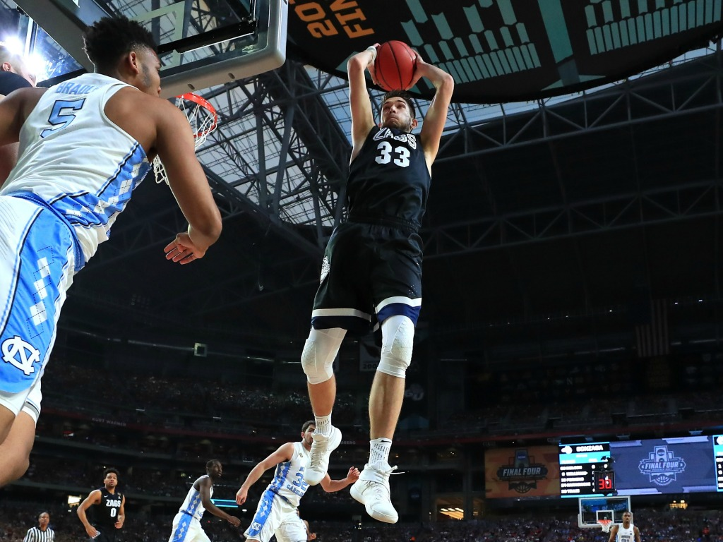 Killian Tillie (Gonzaga) lors de la finale universitaire face à North Carolina