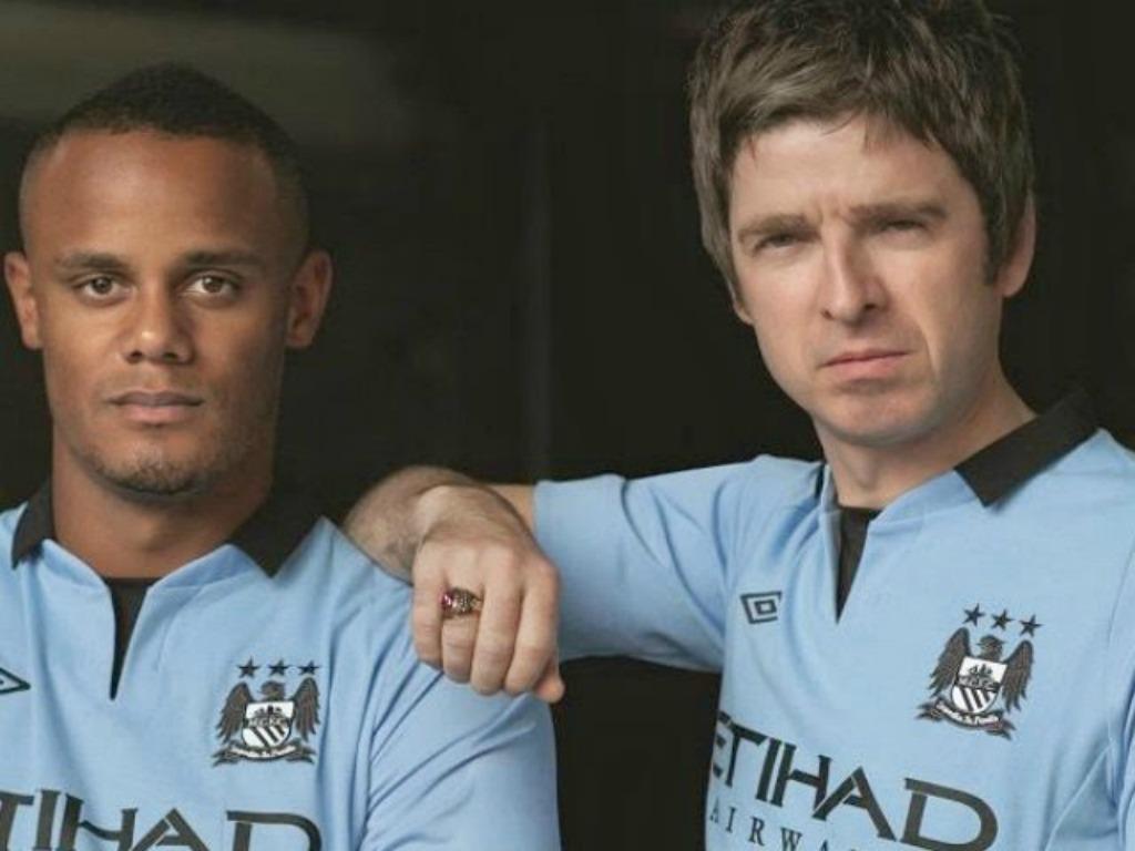 Vincent Kompany et Noel Gallagher (ex Oasis)