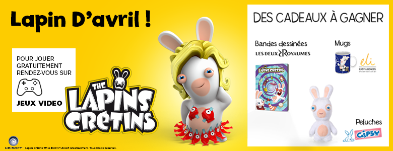 Jeu concours the lapins cr tins la grosse aventure gagnez des lots lapins cr tins sfr - Jeux lapin cretain gratuit ...