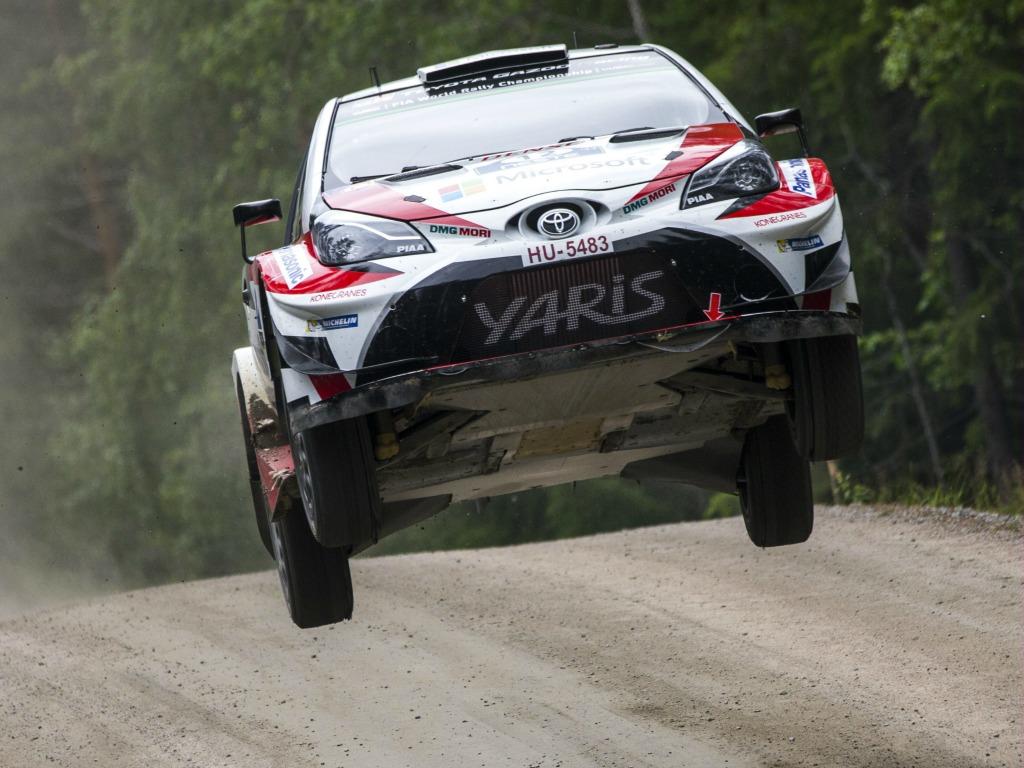 Esapekka Lappi (Toyota) lors du rallye de Finlande