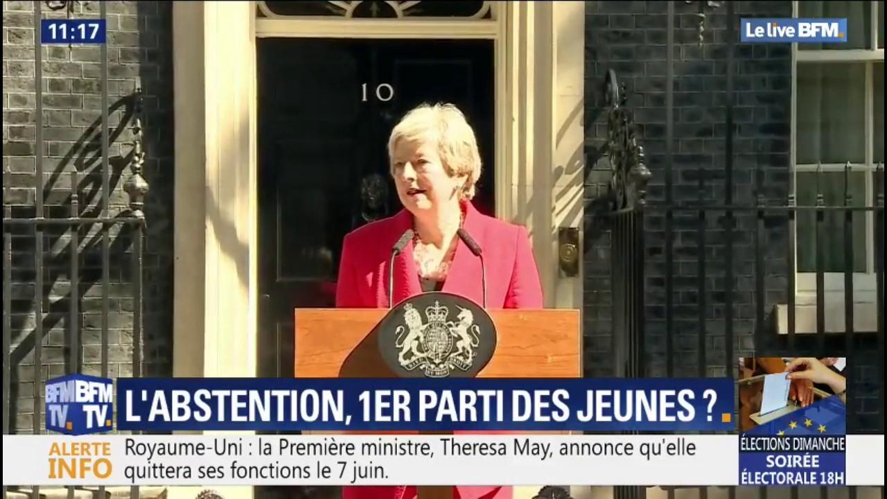 Theresa May, la Première ministre britannique, a démissionné