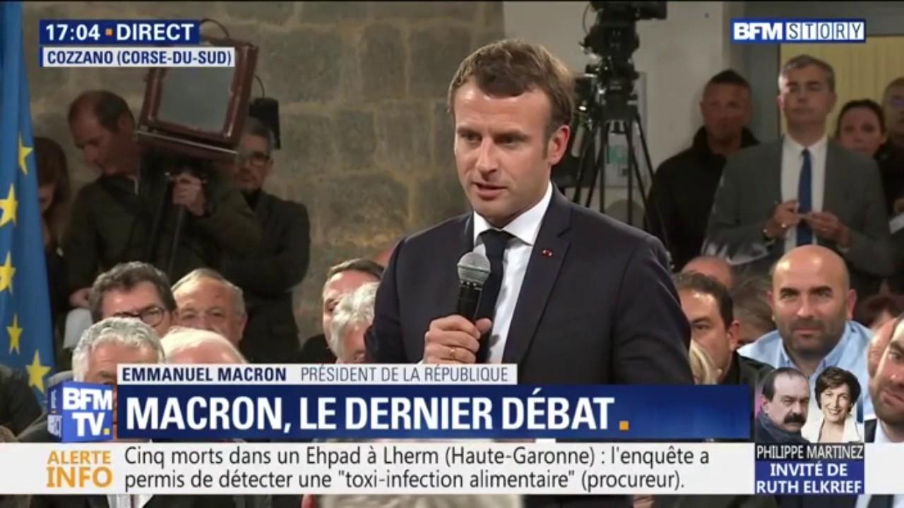 """Macron : """"Les Corses méritent mieux que des guerres de tranchées"""""""