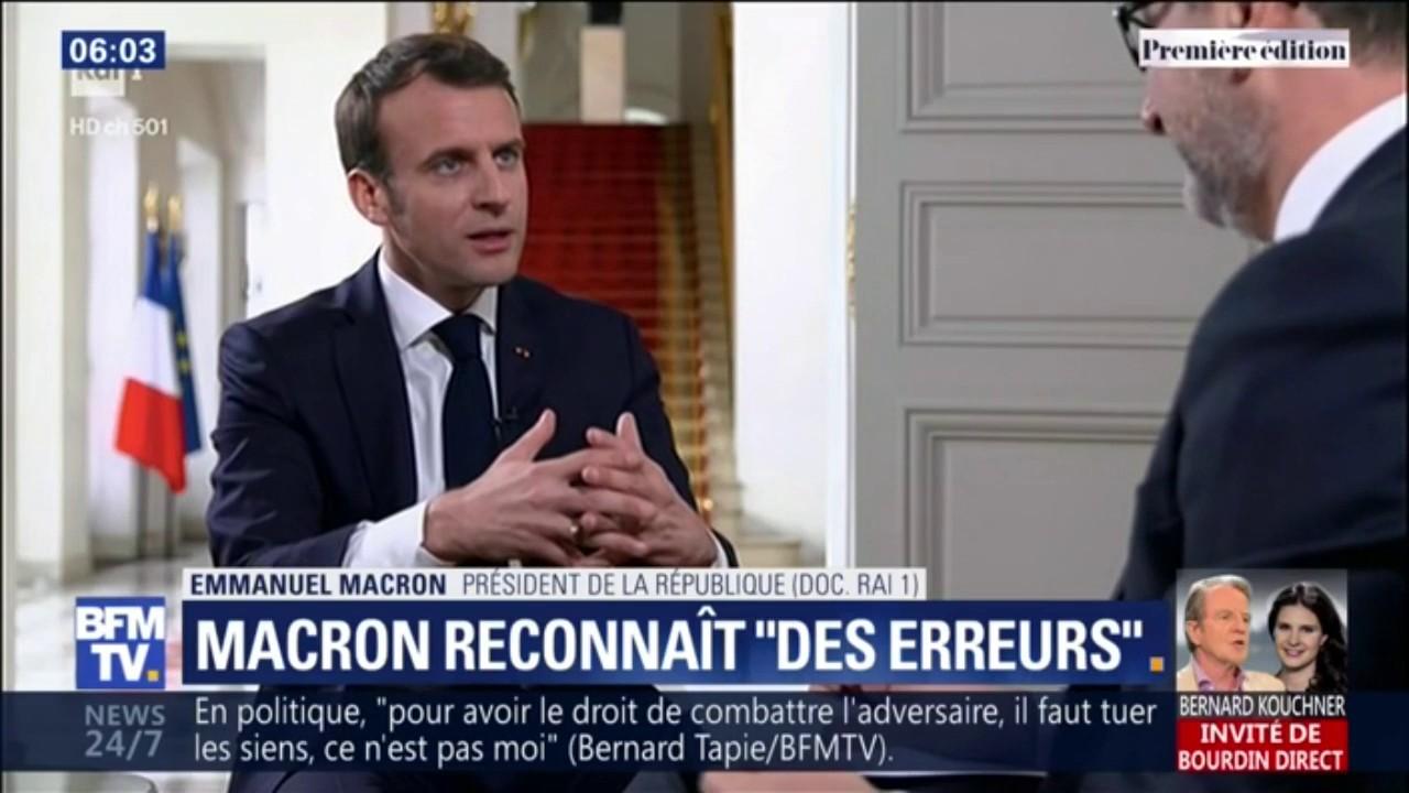 """Gilets jaunes : Emmanuel Macron reconnaît des """"erreurs"""""""