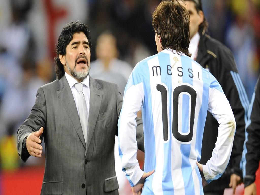 Lionel Messi Diego Maradona
