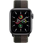 Apple Watch SE 4G 40 mm Aluminium Gris Sidéral avec Boucle Sport Tornade / Gris