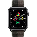 Apple Watch SE 4G 44 mm Aluminium Gris Sidéral avec Boucle Sport Tornade / Gris