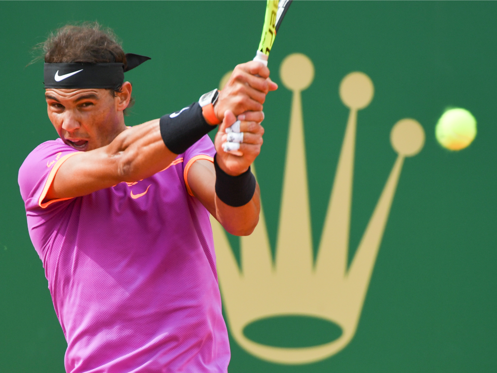 Rafael Nadal lors de son entrée en lice au Masters 1000 de Monte-Carlo