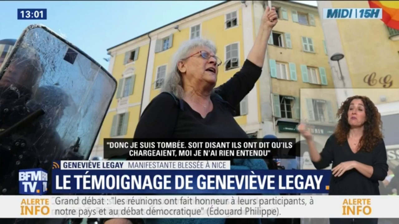 Geneviève Legay blessée à Nice: Macron